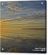 Sunrise Biloxi Ms Dec 2 2013 Acrylic Print