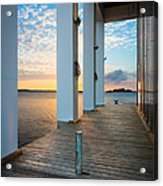 Sunrise Boardwalk Acrylic Print