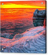 Sunrise Chicago Lake Michigan 1-30-14 Acrylic Print