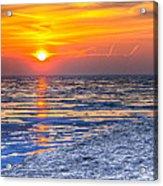 Sunrise Chicago Lake Michigan 3-9-14 Acrylic Print