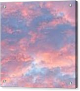 Sunrise Clouds Acrylic Print