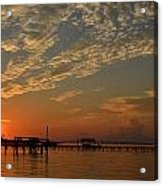 Sunrise Colors With Storms Building On Sound Acrylic Print