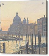 Sunrise Grand Canal Acrylic Print