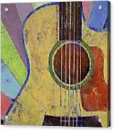 Sunrise Guitar Acrylic Print by Michael Creese