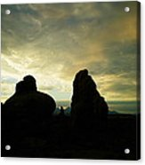 Sunrise In Arches National Park Acrylic Print