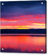 Sunrise In Cayuga Lake Ithaca New York Panoramic Photography Acrylic Print