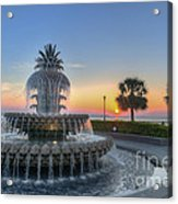 Sunrise In Charleston Acrylic Print