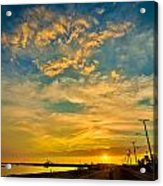 Sunrise In Manaure Colombia Acrylic Print