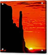 Sunrise In Monument Valley Acrylic Print