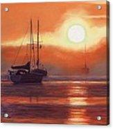 Sunrise In Newburyport Mass Acrylic Print