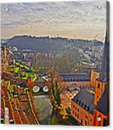 Sunrise In Old Town Acrylic Print