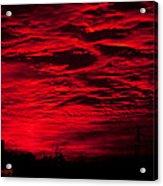Sunrise In Red Acrylic Print