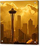 Sunrise In Seattle Acrylic Print