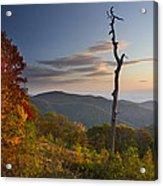 Sunrise In Shenandoah National Park Acrylic Print