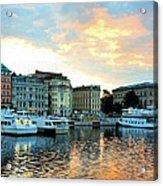 Sunrise In Stockholm Acrylic Print