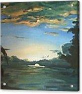 Sunrise  In Tanon Strait Acrylic Print