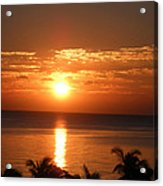 Sunrise In The Bahamas Acrylic Print