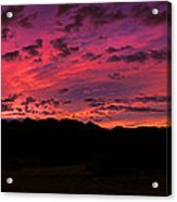 Sunrise In The Foothills Acrylic Print