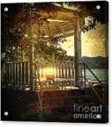 Sunrise In The Gazebo Acrylic Print