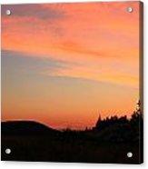 Sunrise In Wyoming Acrylic Print
