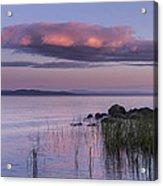 Sunrise Lake Champlain Shore Vermont Clouds Acrylic Print