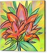 Sunrise Lily Acrylic Print