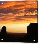 Sunrise Monument Valley Acrylic Print