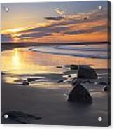 Sunrise On A Beach Near The Port Acrylic Print