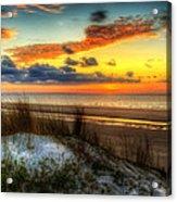 Sunrise On A Jekyll Island Dune Acrylic Print