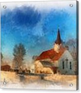 Sunrise On A Rural Church 03 Acrylic Print