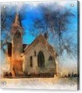 Sunrise On A Rural Church 04 Acrylic Print