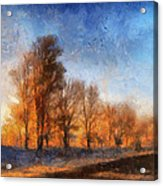 Sunrise On A Rural Country Road Photo Art 02 Acrylic Print