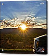 Sunrise On A Traffic Jam Acrylic Print