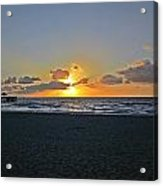 Sunrise On Deerfield Beach Acrylic Print