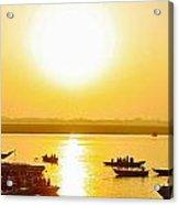 Sunrise On Ganges Acrylic Print