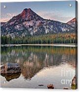Sunrise On Gunsight Mountain Acrylic Print by Robert Bales
