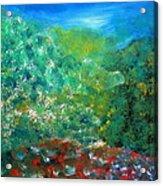 Sunrise On Hilltop Acrylic Print