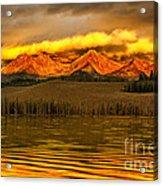 Sunrise On Little Redfish Lake Acrylic Print