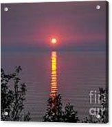 Sunrise On Middle Island Acrylic Print