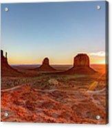Sunrise On Monument Valley Acrylic Print
