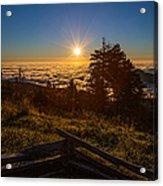 Sunrise On Mount Mitchell Acrylic Print
