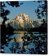 Sunrise On Mount Moran Acrylic Print