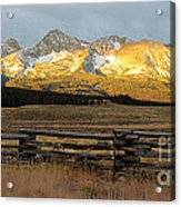 Sunrise On Sawtooth Mountains Idaho Acrylic Print