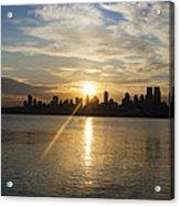 Sunrise On The Big Apple Acrylic Print