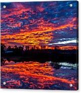 Sunrise On The Fishing Hole Acrylic Print
