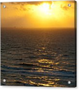 Sunrise On The Gulf Acrylic Print by Barbara Shallue