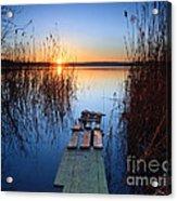 Sunrise On The Lake Acrylic Print
