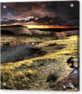 Sunrise On The Pawnee Grasslands Acrylic Print by Ric Soulen