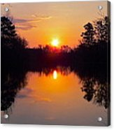 Sunrise On The Pond Acrylic Print