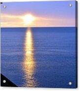 Sunrise On Whitefish Bay Acrylic Print